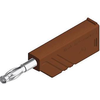 Straight blade plug Plug, straight Pin diameter: 4 mm Brown SKS