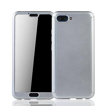 Huawei honor 10 mobile case protection-case full cover tank protection glass silver