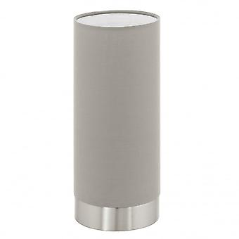 Eglo Pasteri Tubular Touch Light Lamp, Taupe Shade