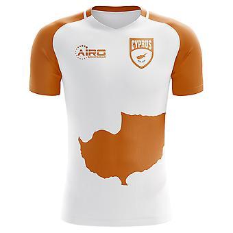 2018-2019 Zypern Flagge Home Konzept Fußballtrikot