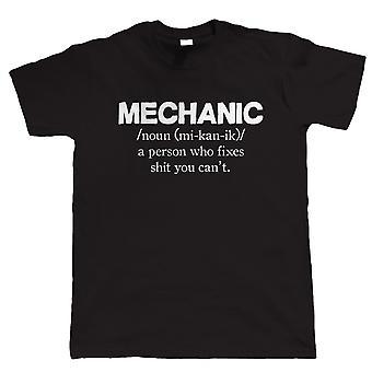 Mechanische Herren lustige T-Shirt - Geschenk für Papa Oldtimer-Garage