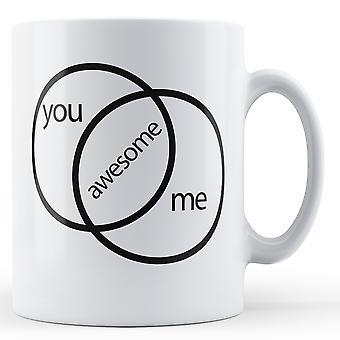 Deg og meg = Awesome - trykt krus
