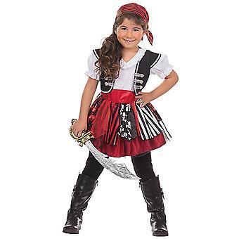 Pirat Bonnie Pirate kostyme for jenter Seeräuberin