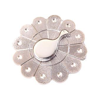 Broche de plata del pavo real