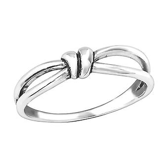 Knot - 925 Sterling Silver Plain Rings - W36761x