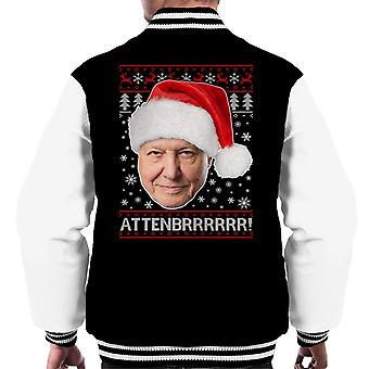 Attenbrrrrrr David Attenborough Christmas Knit Men's Varsity Jacket