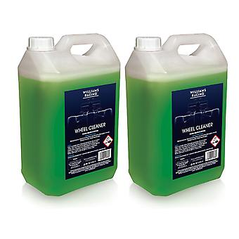 2 x 5L Williams Racing Heavy Duty Non-Acidic Wheel Cleaner