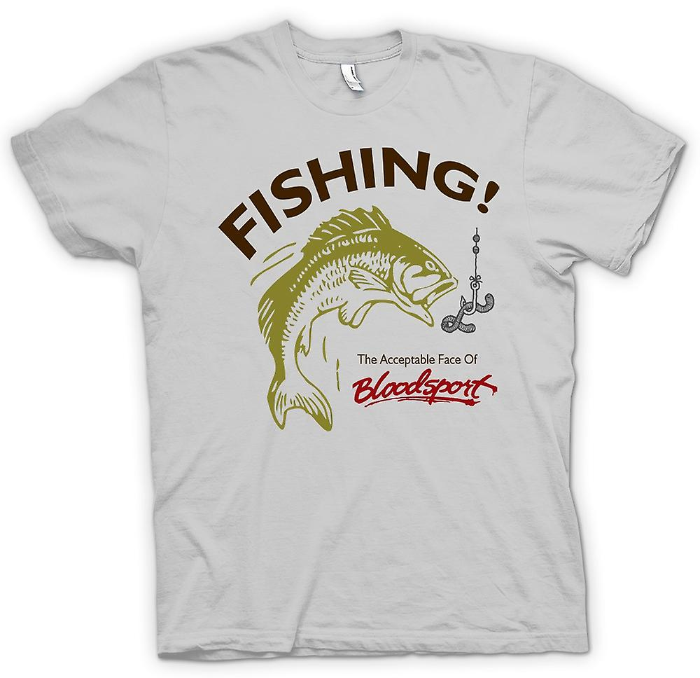 Mens T-shirt - Fishing Acceptable Bloodsport - Funny