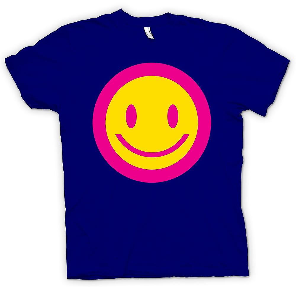 Herr T-shirt - rosa Smiley Face - syra barn