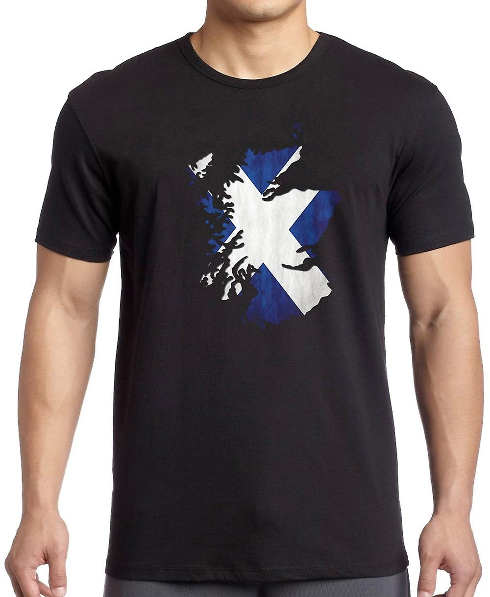 Ecosse Scottish Saltire Map Design T-shirt