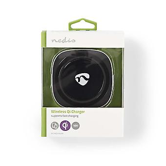 Nedis Wireless Fast Qi Charger 10W 2.0A USB Powered for oPhone 8,X,XS,XS Max, Samsung Galaxy S3-S8, Asus Nexus 7