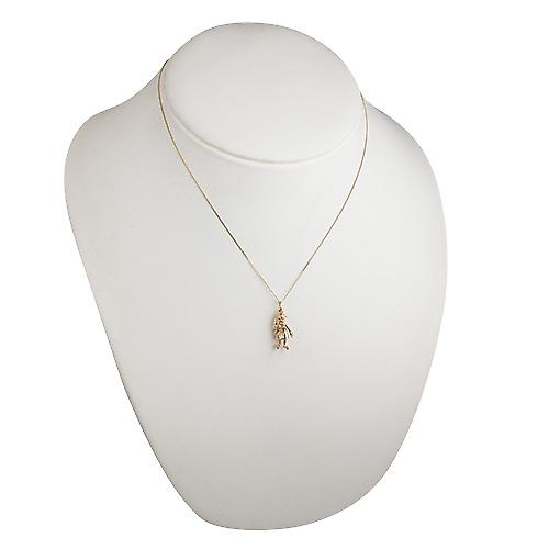 9ct Gold 20x10mm moveable Beefeater Pendant with a curb Chain 18 inches