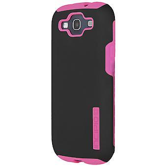 Incipio Silicrylic DualPro Case for Samsung Galaxy S3 - Black/Neon Pink