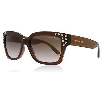 ミハエル Kors MK2066 334813 暗い茶色水晶バンフ四角形サングラス レンズ カテゴリー 2 サイズ 55 mm