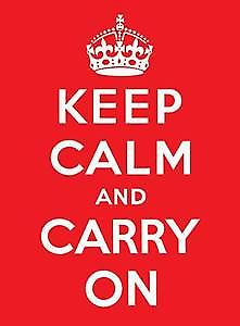 Keep Calm and Carry On metal sign  (fd)