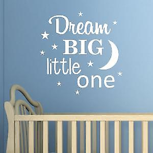 Dream Big Little One Wall Quote