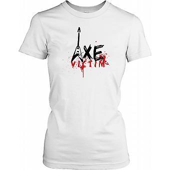 Axe Victim - Funny Guitar Ladies T Shirt