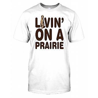 Liebevoll in eine Prärie - lustige Erdmännchen Herren T Shirt
