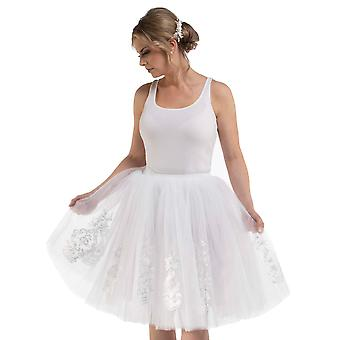 Bride-To-Be Bridal Shower Bachelorette Party Gift Nadia Tulle Tutu Skirt BTS101 White O/S