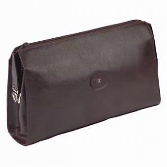 Hans Kniebes Luxurious Brown Leather Wash Bag (D)