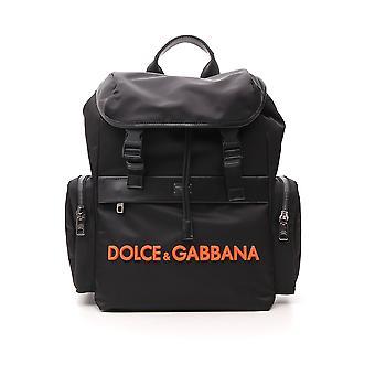 Dolce E Gabbana Orange/black Nylon Backpack