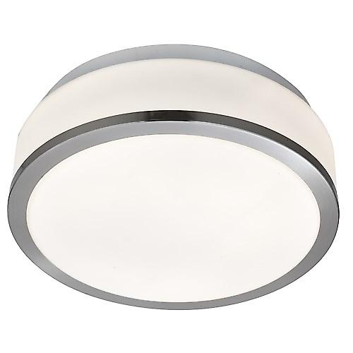 Searchlight 7039-28SS Bathroom Ceiling Light With Opal Glass And Satin Trim IP44