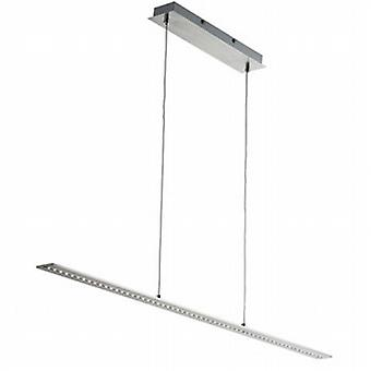 Searchlight 2065SS Modern LED Ceiling Bar Light in Satin Silver