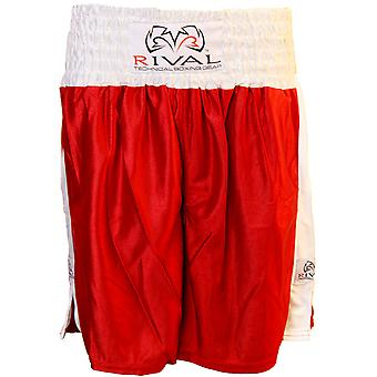 Rival Traditional Cut Dazzle Boxing Trunks - Red/White