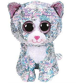 Ty - Beanie Boos Flippables Sequins Whimsy the Cat Soft Toy