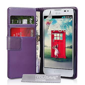 YouSave Zubehör LG L90 LeatherEffect Wallet RS lila