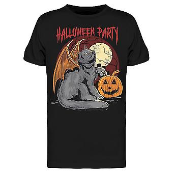 Halloween Cat Wings Tee Uomini's -Immagine di Shutterstock