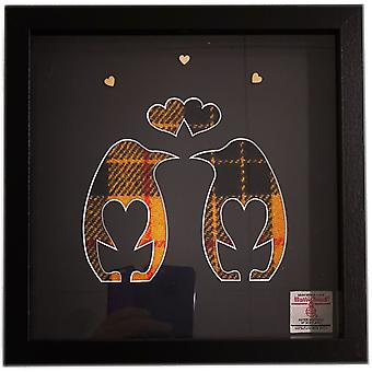 Laura Ann Cards McLeod Mellow Dress Harris Tweed Penguin Love Birds Frame B