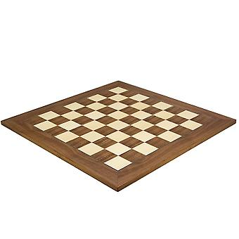 21.7 Inch Walnut and Maple Deluxe Chess Board