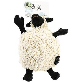 goDog Fuzzy Wuzzy with Chew Guard Large-Sheep 770613