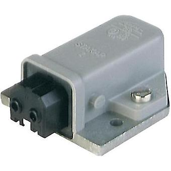 Mains connector ATT.LOV.SERIES_POWERCONNECTORS STAKAP Socket, horizontal mount Total number of pins: 2 + PE 16 A Grey H