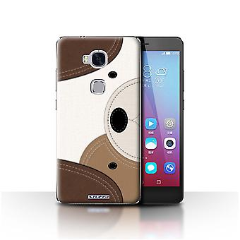 STUFF4 Case/Cover for Huawei Honor 5X/GR5/Dog/Animal Stitch Effect