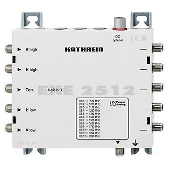 SAT unicable cascade multiswitch Kathrein EXE 2512 Inputs (multiswitches): 5 (4 SAT/1 terrestrial) No. of participants: