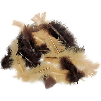 Flat Turkey Feathers 14g-Natural MD39326