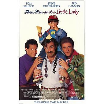 Kolme miestä ja vähän Lady elokuvan juliste (11 x 17)