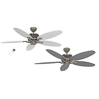 Energy-saving ceiling fan Eco Gamma White / Light grey with remote control in different sizes