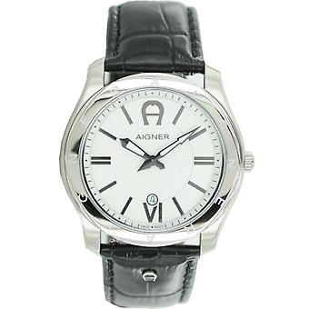 Aigner mens watch wristwatch leather Lazio A42116