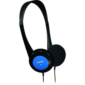 Maxell Headphones Earphones For Kids, Children, Controlled Volume, Blue