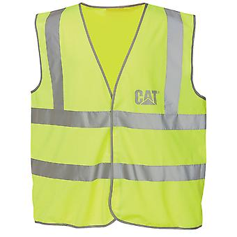 Caterpillar C1322024 HI VIS Unisex Vest Hook Loop Closer Packet Worwear Garment