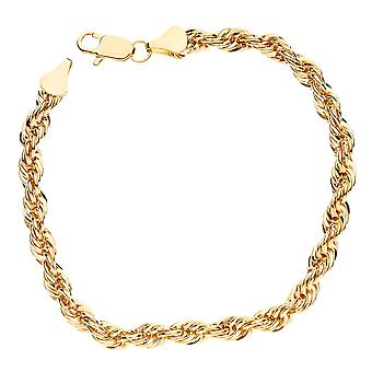 Bling cord chain bracelet - ROPE chain 6 mm gold