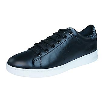Geox D Jaysen A Womens Leather Trainers / Shoes - Black