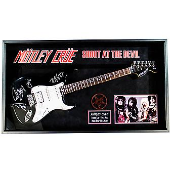 Motley Crue - Autographed Electric Guitar Signed in Framed Case with COA