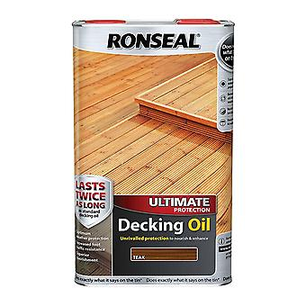 Ronseal Ultimate Protection Decking Oil 5 Litre - Teak