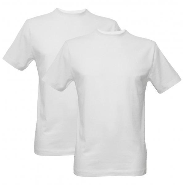 Jockey 2-Pack moderne klassiske Crew-hals t-skjorter, hvite