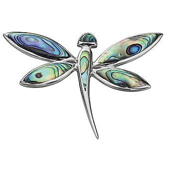 925 collana in argento libellula smaltato alla moda