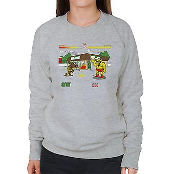 Springfield Fighter Street Fighter Simpsons Barney Zangief Apu Dhalism kvinder Sweatshirt